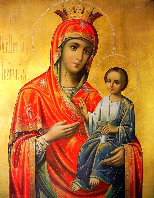икона иверская божья матерь фото бисером
